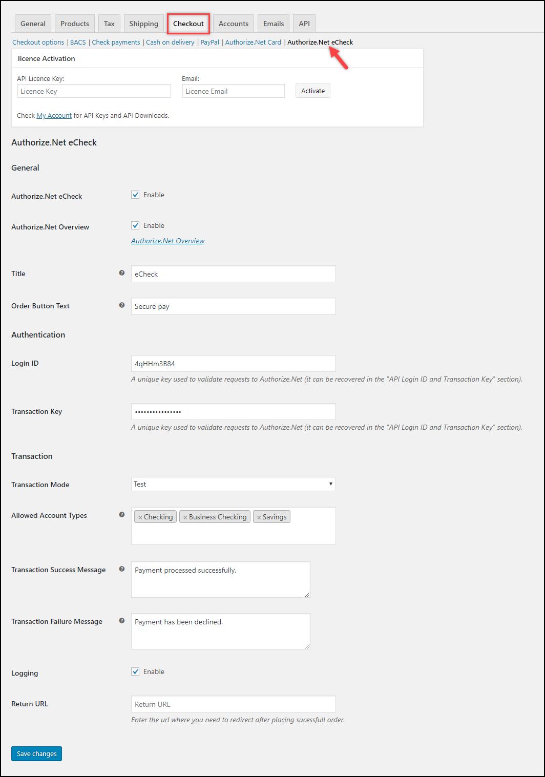 ELEX Authorize Net Payment Gateway – Demo Site